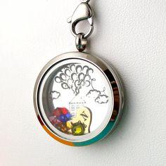 Disney Up Necklace - Floating Locket Set - Living Locket - Memory Locket on Etsy, $20.00