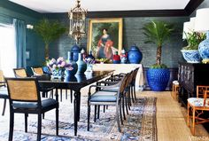 Mary McDonald - Veranda    One of my favorite things about Mary McDonald's style is her sense of scale. In this beautiful dining room, tr...