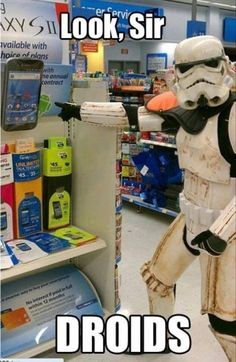 Pretty obvious and frankly overused, but still kinda funny. Star Wars - Droids Humor
