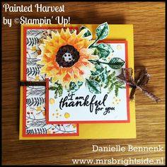 Painted Autumn, painted harvest squash fold card - Spotlight project - Mrs. Brightside - Danielle Bennenk