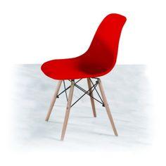 Jídelní židle PC-015 cinkla, červená + buk