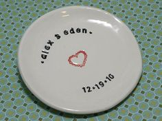 Cute gift for Bride- personalized ring dish from Etsy