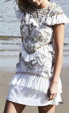 40e23bd1d48 (eBay Ad) NEW Thurley Dawn Mini Dress Ivory Size 10 RRP  1199