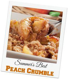 Summer's Best Peach Crumble | Use summer fresh peaches to create this ...