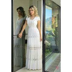 Vestido Longo Camadas Fasciniu's FC8801 Modest Dresses, Simple Dresses, Beautiful Dresses, Summer Dresses, Gorgeous Dress, Mode Gipsy, Classy Outfits, Pretty Outfits, Buy Dress