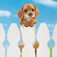 Peeking Puppy Fence Decor - 34088