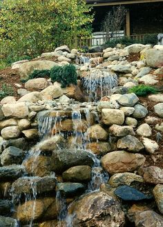 Landscape Water Features | home landscaping brick pavers retaining walls steps water features ...