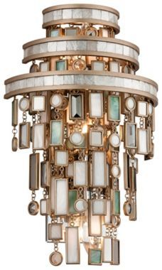 Dolcetti Silver with Mixed Shells Corbett Wall Sconce - #EUT6747 - Euro Style Lighting