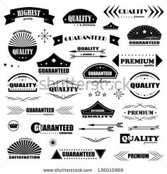 Labels In Retro And Vintage Style.