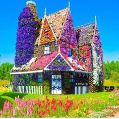 Flower house .... #Dubai Miracle Garden (DMC) . Can't imagine this Garden in the desert country like Dubai .. Amazing.
