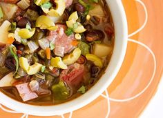 Andouille and Black Bean Soup by mjskit Beef Recipes, Soup Recipes, Black Bean Soup, Black Beans, Chicken Gnocchi Soup, Spicy Soup, Chicken Enchilada Soup, Italian Soup, Vegetarian Soup