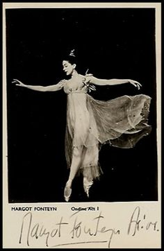"Ballerina Margot Fonteyn as ""Ondine."" She was one of only 11 dancers in history to receive the rare & honored title ""Prima Ballerina Assoluta."""