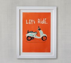 Let's Ride Wall Art by Minted® #pbkids