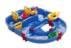 Aquaplay Basic Lock Set by Reeves (Breyer) Int'l. $64.95. Includes 1 lock (including 3 lock gates and 1 water pump), 1 paddlewheel, 1 tugboat, 2 curved sections and 3 fasteners with sealing strips. Swedish-made quality and design. All components made of non-toxic recyclable plastics. Modular canal system. Three-year warranty. From the Manufacturer                Swedish-made AquaPlay is a line of water toys for children of all ages that is comprised of modular canal ...