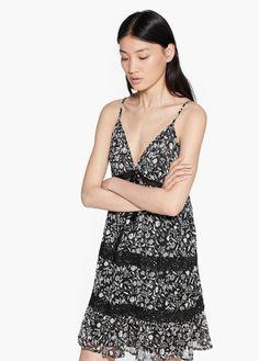 Openwork trim dress