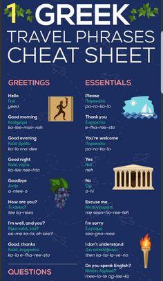 Santorini Travel, Santorini Greece, Athens Greece, Mykonos, Greek Phrases, Greek Words, Greece Vacation, Greece Travel, Vacation Spots