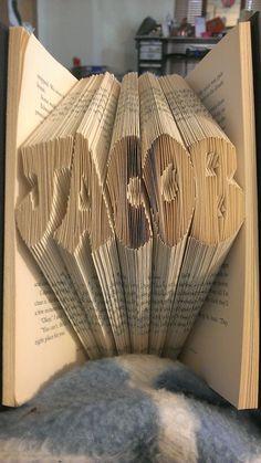 Folded Book Art   Jacob / Twilight Saga: New Moon by GOK4Kreations