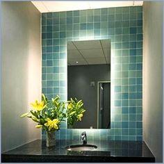 illuminated bathroom led mirror