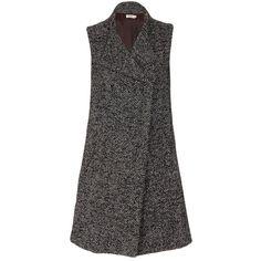 Double-breasted Coat Black/White - spree.co.za
