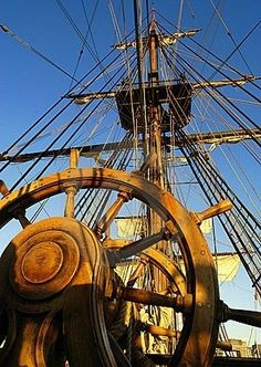 Photo about Shot of the Master & Commander ship wheel. Image of steering, boat, helm - 2856423 Old Sailing Ships, Sailing Boat, Sailing Style, Sailing Knots, Sailing Dinghy, Sailing Outfit, Master And Commander, Ship Wheel, Wooden Ship