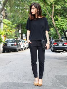 Look - Black & Animal Print - Ligada na Moda