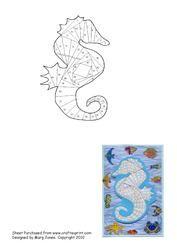 View Seahorse Iris Folding Pattern Details