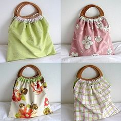 PDF Reversible Craft/Knitting Bag Sewing Pattern by LillyBlossom