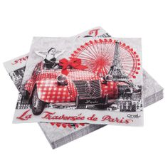 Lot de 2 serviettes en papier Paris je t/'aime Paris Toujours Decoupage Collage