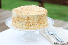 i wrestled a cupcake once: Toasted Coconut Layer Cake