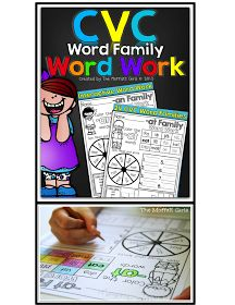 The Moffatt Girls: CVC Word Family Word Work