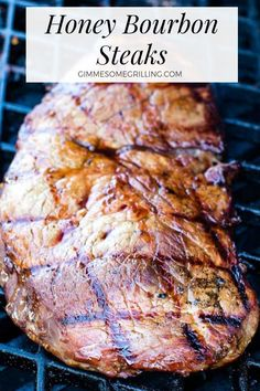 Make this Honey Bourbon Steak then marinade a sirloin steak in it for a tender juicy and delicious grilled steak recipe! Make this Honey Bourbon Steak then marinade a sirloin steak in it for a tender juicy and delicious grilled steak recipe! Sirloin Tip Steak, Sirloin Steak Recipes, Steak Marinade Recipes, Grilled Steak Recipes, Grilled Beef, Grilling Recipes, Beef Recipes, Cooking Recipes, Hamburgers