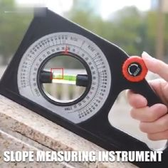 Introducing the Multi-function Slope Measuring Instrument, an accurate slope measuring ruler. The graduated rotating wheel is used to adjust the position of the bubble in the level pipe. Clear scale, a large number of the readable disc, easy to read. Life Hacks Diy, Useful Life Hacks, Homemade Tools, Diy Tools, Measuring Instrument, Construction Tools, Cool Gadgets To Buy, Garage Tools, Garage Ideas