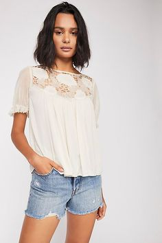 178edf0644133a Just For You Blouse - Lace Top Cream Blouse Cream Lace Top, Cream Blouse,