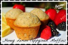 Honey Lemon Poppyseed Muffins. Lemon Zest combined with Raw Orange Blossom Honey makes these Honey Lemon Poppyseed Muffins quite a treat. I know you'll love them!