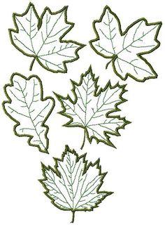 Advanced Embroidery Designs - Leaves Applique Set