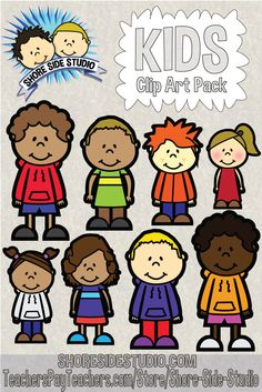 Shore Side Studio is proud to present our latest clip art pack. This clip art pack is our first in a series of kids. https://www.teacherspayteachers.com/Product/Kids-Clip-Art-1797884