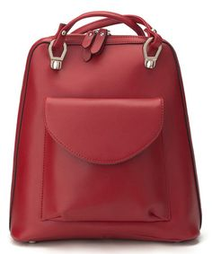 Another great find on #zulily! Red Leather Backpack #zulilyfinds