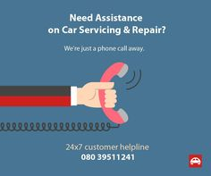 #carservice #carrepair #bangalore Get immediate assistance regarding car service & repair issue. Be it regular car servicing, car repair, emergency doorstep/roadside assistance, or car washing, we are there to assist you. Call 24x7 customer helpline 08039511241