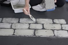 Maison Decor: Store makeover begins: creating a cobblestone floor with sponges