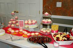Bridal Shower cupcakes & Fruit