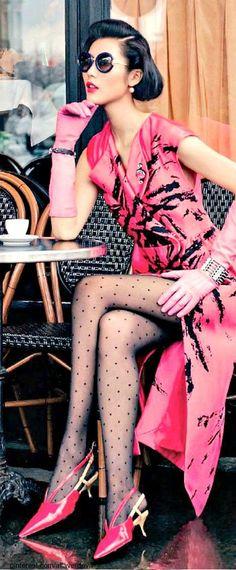 Liu Wen Superb Long Drees Vogue China. **ep**