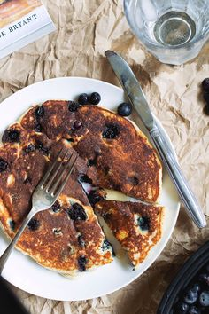 Blueberry coconut flour pancakes.