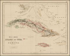 Island of Cuba (Spanish) and Jamaica (British) [also South Florida, Bahamas and Cayman Islands) - Barry Lawrence Ruderman Antique Maps Inc.