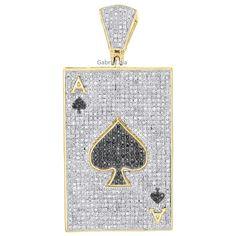 Diamond 10K Yellow Gold Fn Black Puff Dome Mini Star Pendant Unisex Charm 2.00CT