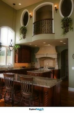 Love the balcony over looking the kitchen