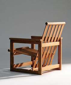 Edvin Helseth; Wooden Adjustable Armchair, 1965.