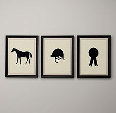 Equestrian Silhouette Art - Restoration Hardware Baby & Child - so totally cute.