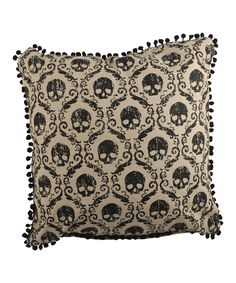 Another great find on #zulily! Damask Skull Wallpaper Pillow by Bethany Lowe Designs #zulilyfinds