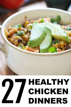 Sometimes dinner can get boring and it's hard to know what to make. Here are 27 of the best healthy chicken dinner recipes from our site. Healthy Eating Recipes, Healthy Chicken Recipes, Cooking Recipes, Chicken Salad With Pineapple, Clean Dinner Recipes, Healthy Chicken Dinner, Slow Cooker Tacos, Fast Easy Meals, Sisters