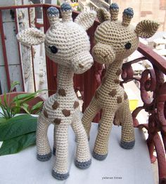 Baby Giraffe-Instant Download Crochet Pattern-Toy door ElenasTimes